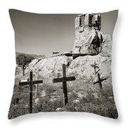 Sacred Cross Throw Pillow