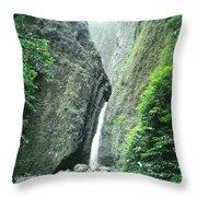 100450-sacred Falls  Throw Pillow