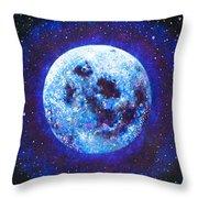 Sacred Feminine Blue Moon Throw Pillow