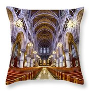 Sacred Heart Basilica Throw Pillow