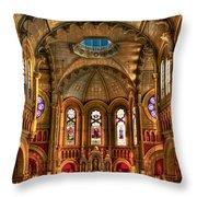 Sacred Heart Cultural Center Throw Pillow