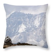 Sacred Mountain Throw Pillow