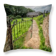 Sacred Path Throw Pillow by Adrian Evans