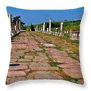 Sacred Road To Asclepion In Pergamum-turkey  Throw Pillow