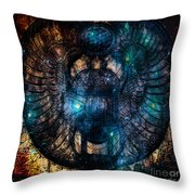 Sacred Scarab Throw Pillow