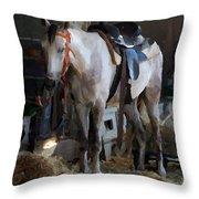 Sad Horse Throw Pillow