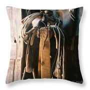 Saddle And Chaps Throw Pillow