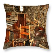 Saddle And Piano Throw Pillow