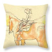 Saddle Break Throw Pillow