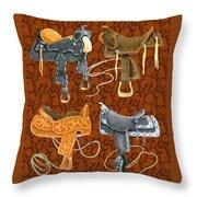 Saddle Leather Throw Pillow