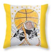 Saddle Oxfords And Basketball Throw Pillow