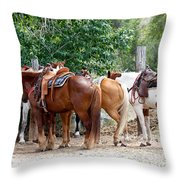 Saddled Throw Pillow