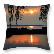 Sadness At Days End Throw Pillow