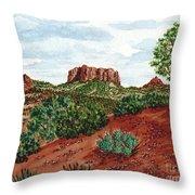 Sadona Two Mountains Throw Pillow