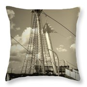Safe Harbor At Sunset Throw Pillow