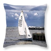 Safely Back To Harbour Throw Pillow