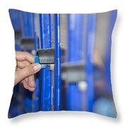 Safety Box Throw Pillow