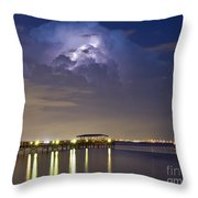 Safety Harbor Pier Throw Pillow