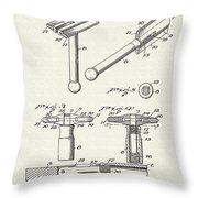 Safety Razor Patent 1937 Throw Pillow
