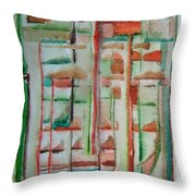 Sage Abstract Throw Pillow