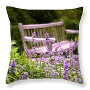 Sage Garden Throw Pillow