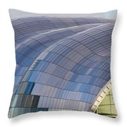 Sage Gateshead Roof Close Up Throw Pillow