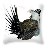 Sage Grouse  Throw Pillow by Anonymous