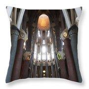 Sagrada Familia Gaudi 1 Barcelona Spain Throw Pillow