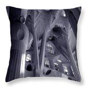 Sagrada Familia Vault Throw Pillow