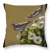 Saguaro Cactus Flower 6 Throw Pillow