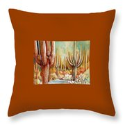 Saguaro National Forest Throw Pillow