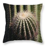 Saguaro With New Arm Throw Pillow