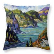 Saguenay Fjord By Prankearts Throw Pillow
