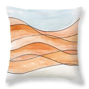 Sahara Sand Dunes Throw Pillow