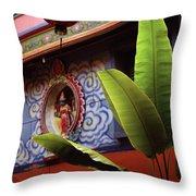Saigon Temple Throw Pillow
