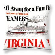 Sail Away For A Fun Day Throw Pillow