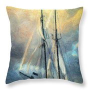 Sail Away To Avalon Throw Pillow by Taylan Apukovska