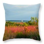 Sail Boat Honeymoon Island Throw Pillow
