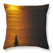 Sail Boat On Puget Sound Throw Pillow