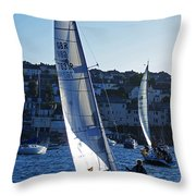 sail boat Penryn river Spring 2010 six Throw Pillow