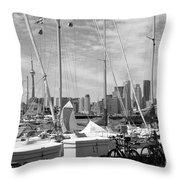 Sail Boats Toronto On Throw Pillow
