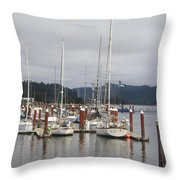 Sail Boats Waiting For Their Captains Throw Pillow