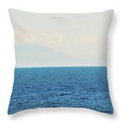 Sail Cool Blue Throw Pillow