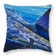 Sail On The Reef Off0082 Throw Pillow