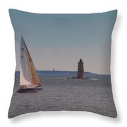 Sail On The Tide Throw Pillow