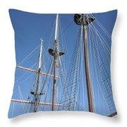 Sail Rigging Throw Pillow