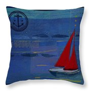 Sail Sail Sail Away - J173131140v02 Throw Pillow by Variance Collections