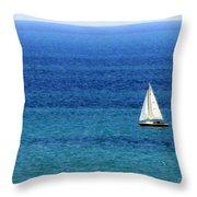 Sailboat 2 Throw Pillow
