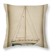 Sailboat 42 Throw Pillow