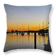 Sailboat Bay Throw Pillow
